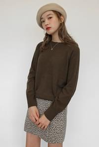 Natural round wool knit