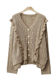 Grooming knit cardigan