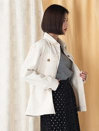 loose fit belt jacket