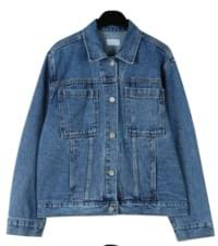 Vintage mood washing denim jacket