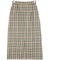 jay classic check long skirt (s, m)