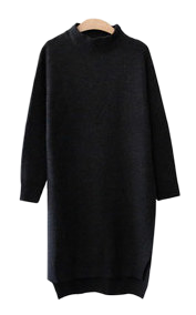 One-piece polo-knit dress