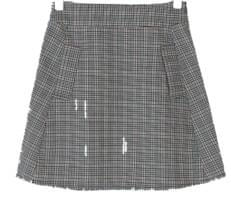 girlish check mini skirt
