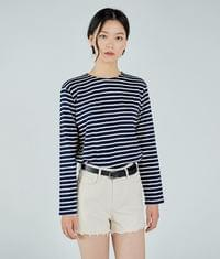 Basic Striped R-neck Top