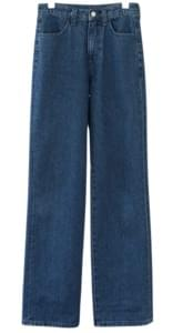 steady straight fit denim pants (2colors)