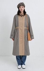 melbourne check single trench coat (2colors)