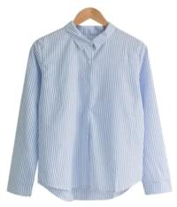 Striped Basic Collar Shirt