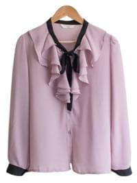 Rania Coloring Tie Blouse