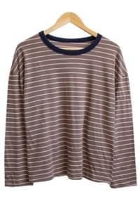 Standard Coloring Stripe Round Tee