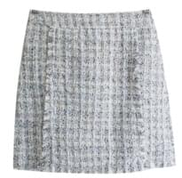 Charm Tweed check mini skirt