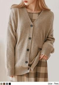 [OUTER] MILD WOOL 50% KNIT CARDIGAN