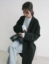 silky long double coat (2colors)