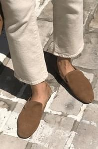 Width-suede shoes