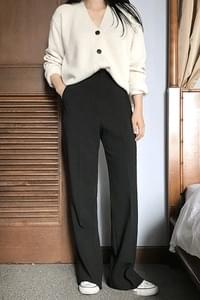 Bro Long Bootcut Slacks-Brick SM