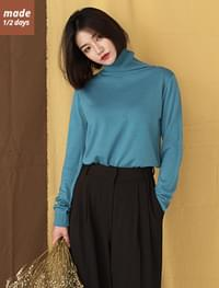 Daily Soft Turtleneck Knit-knit 1/2 days top # 51944