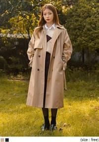 GUN FLAP RAGLAN TRENCH COAT