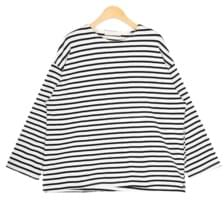 tennis loose stripe T