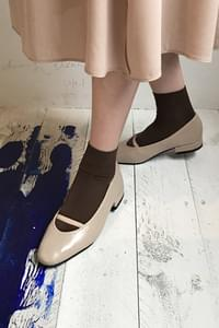 Mary banding flat shoes-dark brown 230, black 230