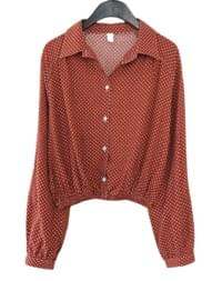 vintage mood pattern blouse (3colors)