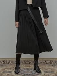 ACIDITY - BELTED PLEATS PANTS (BLACK)