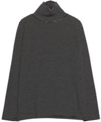[TOP] SOFT STANDARD STRIPE HALF NECK T