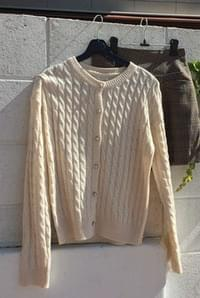 Button silver cardigan