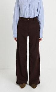 milky corduroy wide pants