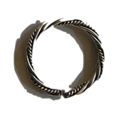 twisted vintage silver ring