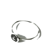 silver cross carving ring
