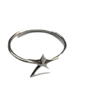star shape silver ring (2type)