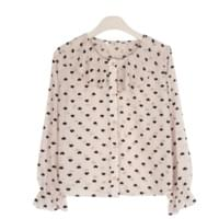 Mini heart frilly blouse