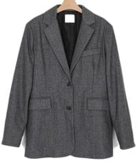 herringbone boxy jacket (2colors)