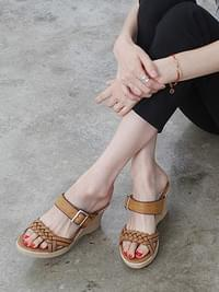 Babe wedge slippers 7.5cm