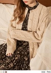 [OUTER] GINGER TWIST KNIT CARDIGAN