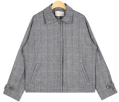 toss check wool jacket