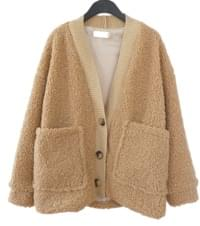 wool loose-fit cardigan (2colors)