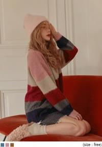 [TOP] ALPACA WOOL 50% BLEND COLOR KNIT