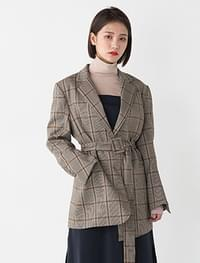 unique unbalance check jacket
