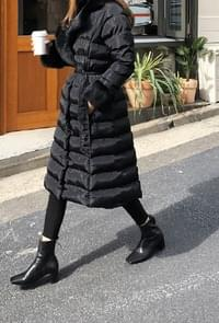 Special Offer - Pretty Line Long Padded Jacket