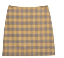Straight Cut Check Skirt