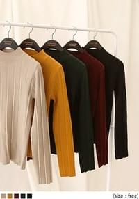 SMOOTH HALF NECK KNIT