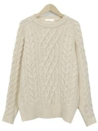 Have cable wool knit_K (울 60%) (size : free)