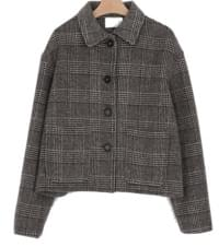 glen check pocket jacket (2colors)