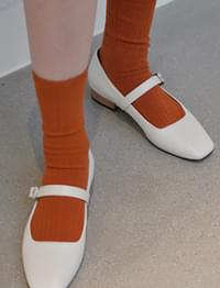 Snack color ankle socks_H (size : one)