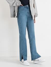 side slit detail denim pants