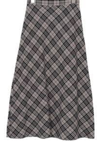 picnic check long skirt (2colors)
