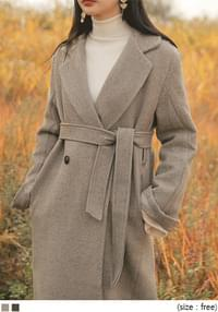GREAT WOOL STRAP LONG COAT
