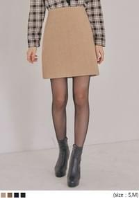 TIDY SOFT NAPPING A LINE MINI SKIRT