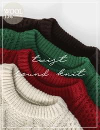 Melting knit wool knit