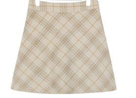 GIRLISH WOOL CHECK MINI SKIRT